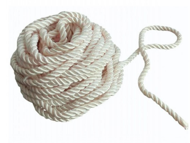 Wit Twisted Rayon Rope Met Plastic Barbs