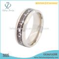 Titânio de designer de alta qualidade com anel de casamento de fibra de carbono