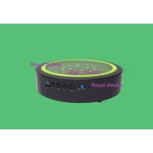 Novo Design 7 Polegada Bluetooth Recarregável Shisha Hookah Música LED