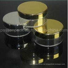 20g Kunststoff-Kosmetikpulver mit Silber oder Gold Metalizaion / Elektroscheibenrand (PPC-LPJ-005)