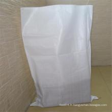 Sac tissé blanc de pp pour le son de blé d'emballage