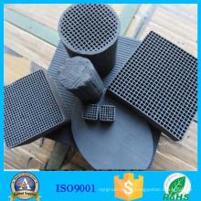 Tamiz de filtro de carbón activado Honeycomb de precio de fábrica negro