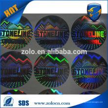 Solution merveilleuse étiquettes d'hologramme de protection de la marque