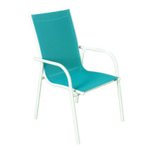 Outdoor green sling furniture-sling dining/chat chair