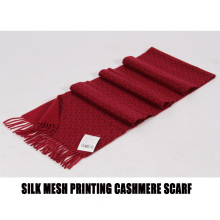 2017 silk mesh printing cashmere scarf
