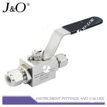 Válvula de bola manual de acero inoxidable 316