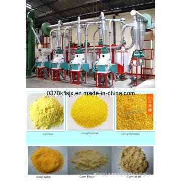 Maquinaria de procesamiento de maíz de venta caliente con precio, maíz de pequeña escala Línea de procesamiento