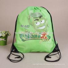 Wiederverwendbarer heißer Verkaufs-Polyester-Kordelzug-Taschen-kundenspezifischer Großhandelssport-Rucksack
