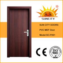 Горячая Продажа двери МДФ ПВХ с дешевым ценой (СК-P091)