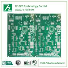 Galangan BGA pelbagai lapisan 6 L 0.1mm garis halus OSP Fr4 UL ISO papan litar