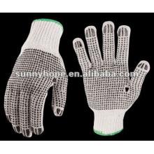 Хлопковые перчатки с ПВХ-пунктиром