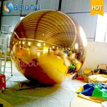 2м Декоративное Зеркало Воздушный шар Золото Серебряная Дискотека Надувной Зеркальный Шар