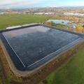 Superfície áspera forro lagoa HDPE preto rolo Geomembrana