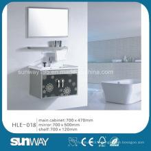 Morden Design Wall Hung Cabinet en acier inoxydable avec miroir