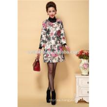venta al por mayor mediados de señoras envejecidas otoño otoño mujeres elegantes bordados overcoats