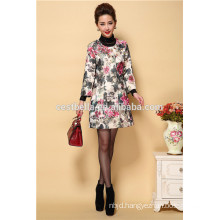 wholesale Middle aged ladies coats autumn elegant women embroidered overcoats