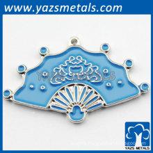 charming fashion blue metal charm for gift