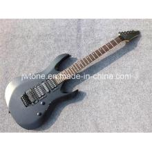 Metallic Black Color Arched Top Electric Guitar
