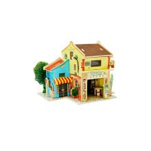 Juguetes de coleccionables de madera para casas globales-Malasia Chinatown