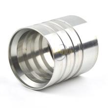 Proveedor de China de acero inoxidable hidráulico macho / hembra manguera casquillo acople