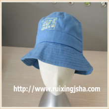 Custom light Blue Jean Washed Bucket Cap and hat