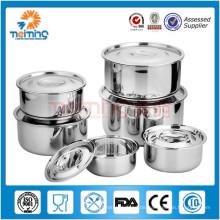 runder Edelstahlnahrungsmittelbehälter / koreanische Artfrischer Kasten / Nahrungsmittelaufbewahrungsbehälter