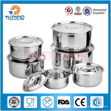round stainless steel food container/Korean style fresh box/ food storage box