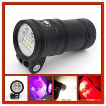 Beste 5000 Lumen 110 Grad Weitwinkel fotografische Unterwasser-UV-Lampe