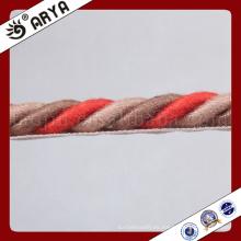 Simple y nueva cuerda decorativa hermosa para la decoración del sofá o el accesorio de la decoración casera, cuerda decorativa, 6m m