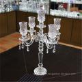 Fabricant en gros bon marché candélabre de cristal de mariage avec des bras d'or 5