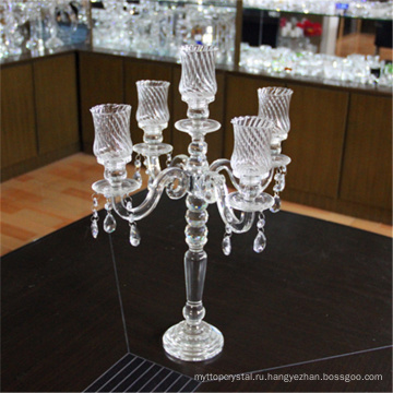 Производитель оптовая дешевые свадебные кристалл канделябры с золотом 5 оружие