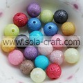 Mixed Color Shinny Wrinkles Acrylic Round Beads 8MM Pearl Beads
