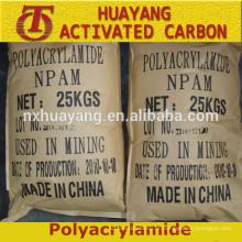 Floculante Polyacrylamide catiónico / aniónico PAM Minas de ouro / exploração mineira