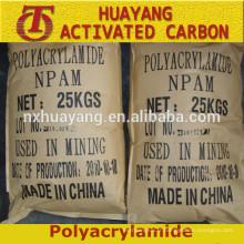 Floculant Polyacrylamide cationique / anionique PAM Mine d'or / exploration minière
