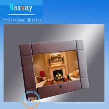 marco de fotos digital de madera de 7 pulgadas