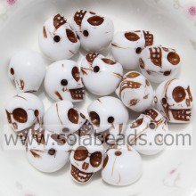 Hot Fix 10*13MM Pearl Skull Bone Shaped Beads Bulk