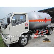 Mini lpg camión cisterna de transporte