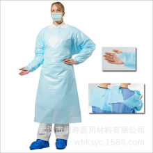 disposable cpe surgical gown open back with EN13795
