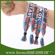 2015 Hot sale fabric festival wristbands for sale