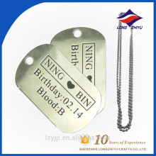 Factory bulk sales metal type pets product dog tag