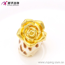 2016 Hot Promotion 24k Gold-Plated Women′s Ring with Flower in Environmental Copper -13506
