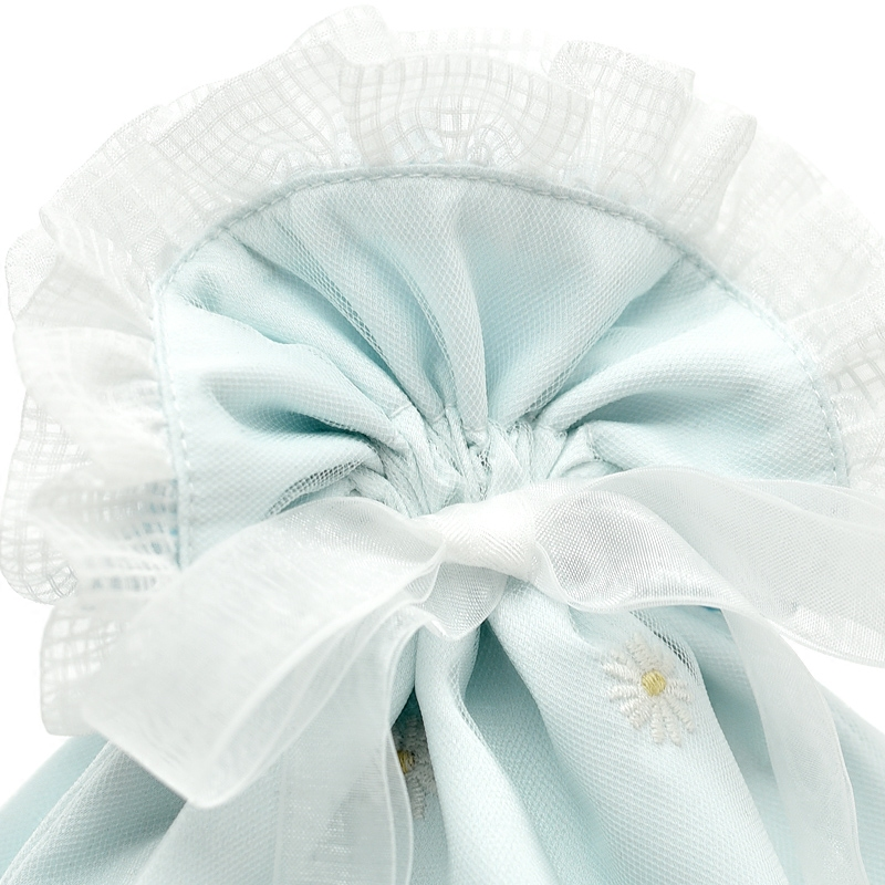 Satin Bag With Organza Ribbon