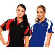 Ladies Heat Transfer Printing Cool Dry Short Sleeve Sublimation Polo Shirt Sports Wear