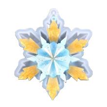 Double Mirror Snowflake Pendant Handmade Pendent Table Pendant Silicone Mold DIY Snowflake Pendant Silicone Mold