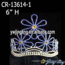 """6"""" flor de cristal concurso coroa para meninas"""