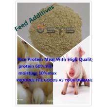 Tourteau de protéines du riz de haute qualité pour les fourrages (Grade alimentaire)