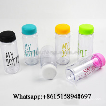 Fashion Portable Clear My Bottle Sport Plastic Fruit Juice Water Cup 500ML