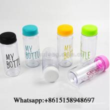Мода портативный чашки ясно мой бутылки Спорт Пластиковые фруктовый сок вода 500мл
