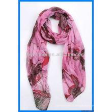 Le plus beau motif écharpe éternité polyester voile