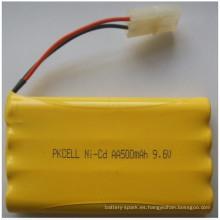 Ni-CD 9.6V AA tamaño batería 500mAh batería paquete